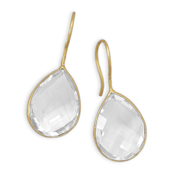 Design 21970: white crystal drop earrings