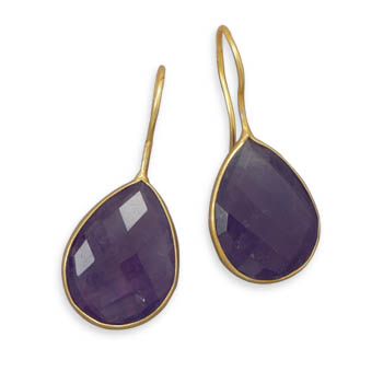 Design 21971: purple amethyst drop earrings