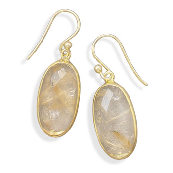 Design 21979: multi-color rutilated quartz drop earrings
