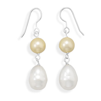 Design 21980: multi-color pearl drop earrings