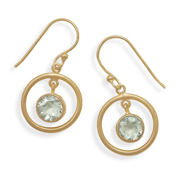 Design 21985: green green amethyst drop earrings