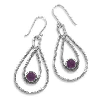Design 21993: purple amethyst drop earrings