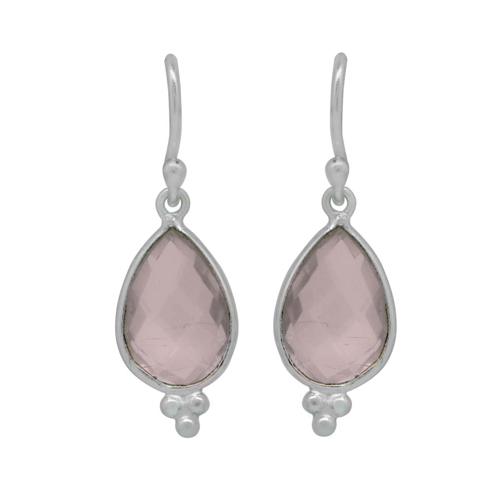 Design 21997: pink quartz drop earrings