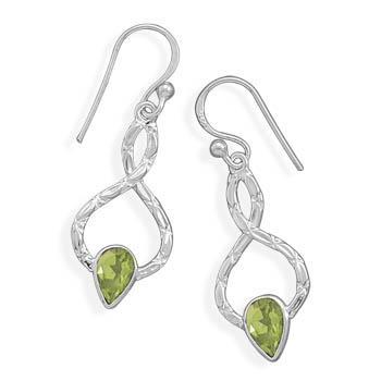 Design 22003: green peridot drop earrings