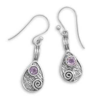 Design 22012: purple amethyst drop earrings