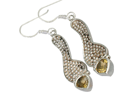 Design 9323: yellow citrine earrings