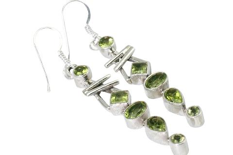 Design 9420: green peridot earrings