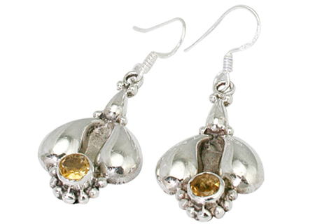 Design 9432: yellow citrine earrings