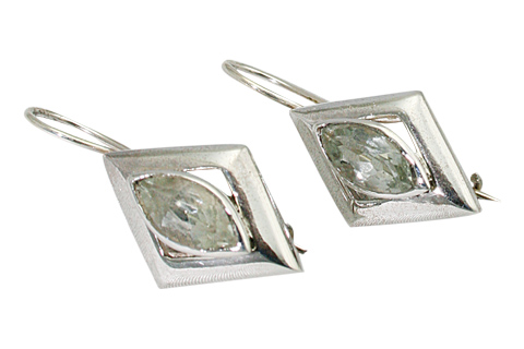 Design 9447: green green amethyst earrings