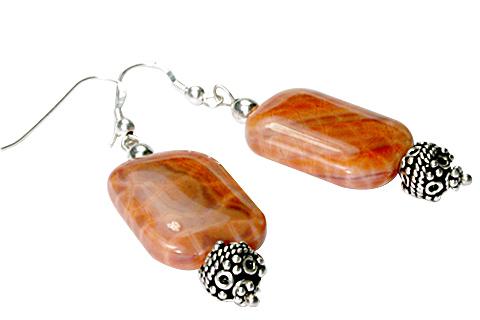 Design 9755: orange agate ethnic earrings