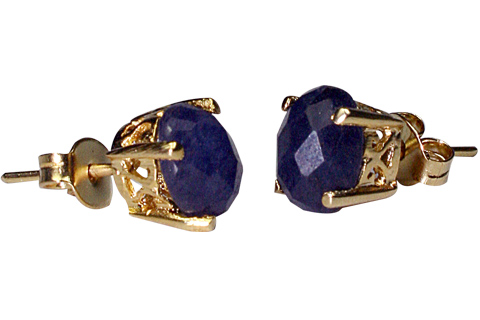 Design 9914: Blue sapphire post, studs earrings