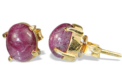 Design 9915: pink ruby post earrings