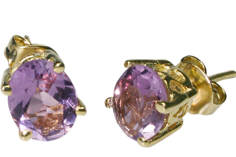 Design 9919: purple amethyst post earrings