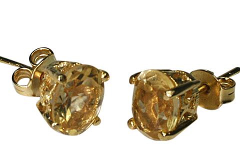 Design 9922: yellow citrine post earrings