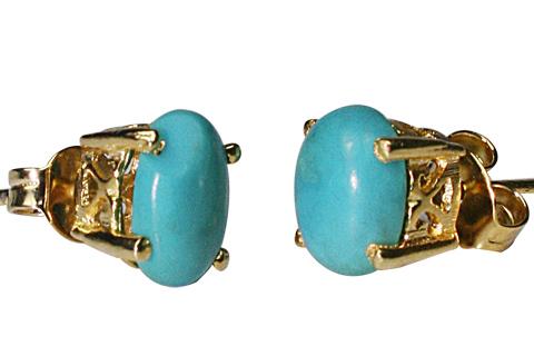 Design 9923: blue turquoise post earrings