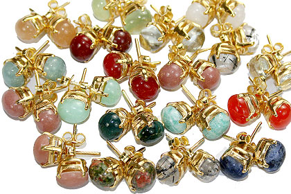 Design 9926: multi-color bulk lots post earrings