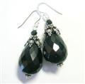 Design 10234: black onyx chunky earrings