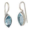 Design 10675: blue blue topaz earrings