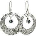 Design 10700: multi-color mystic quartz art-deco, hoop earrings