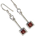 Design 11306: Red garnet earrings