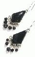 Design 11667: black onyx chandelier earrings