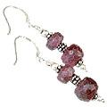 Design 11879: pink ruby earrings