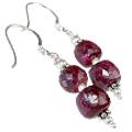 Design 11880: pink ruby earrings