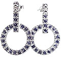 Design 13212: blue iolite post earrings