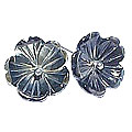 Design 15052: black,gray,multi-color shell flower earrings