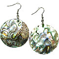 Design 15071: blue,green,pink abalone earrings