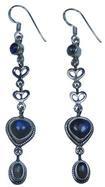 Design 20144: Gray, Blue labradorite earrings
