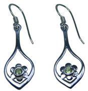 Design 20188: Green peridot earrings