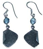 Design 20189: Blue blue topaz earrings
