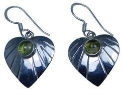 Design 20191: Green peridot earrings