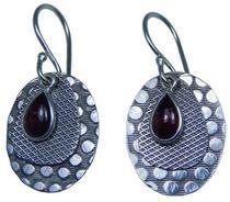 Design 20200: Red garnet earrings