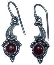 Design 20206: Red garnet earrings