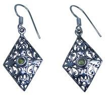 Design 20217: Green peridot earrings
