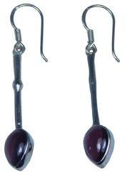 Design 20220: Red garnet earrings