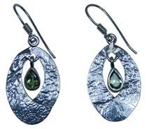 Design 20223: Green peridot earrings