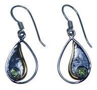 Design 20224: Green peridot earrings