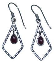 Design 20229: Red garnet earrings