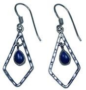 Design 20230: Blue lapis lazuli earrings