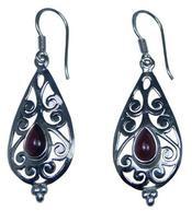 Design 20233: Red garnet earrings