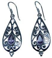 Design 20234: Purple amethyst earrings