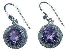 Design 20239: Purple amethyst earrings