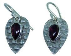 Design 20250: Red garnet earrings
