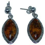 Design 20273: Yellow amber earrings