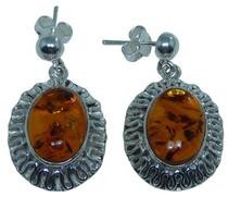 Design 20274: Yellow amber earrings