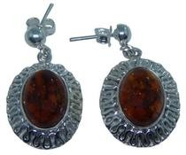 Design 20276: Yellow amber earrings