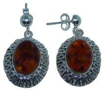 Design 20277: Yellow amber earrings
